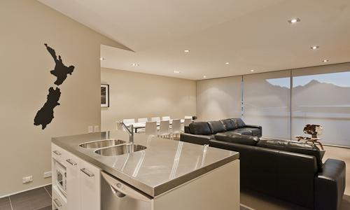 Open plan living, dining, and kitchen - Brilliant Central Location - Queenstown - rentals