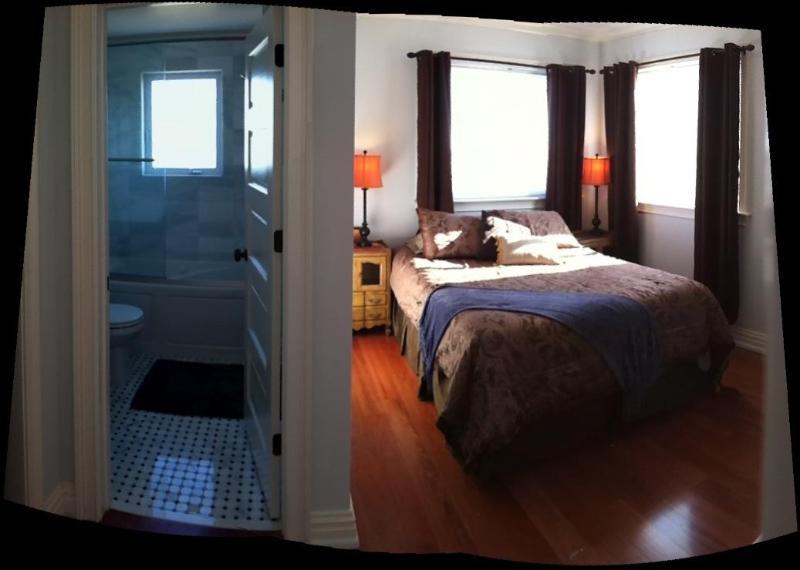 Upstairs unit: Queen bed with insuite jacuzzi tub bath; ocean view - Asbury Park: New OceanView; 1 Block Beach; Parking - Asbury Park - rentals