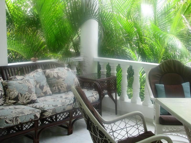 Terrace - Paradise condo - Just steps from Cofresi Beach - Puerto Plata - rentals