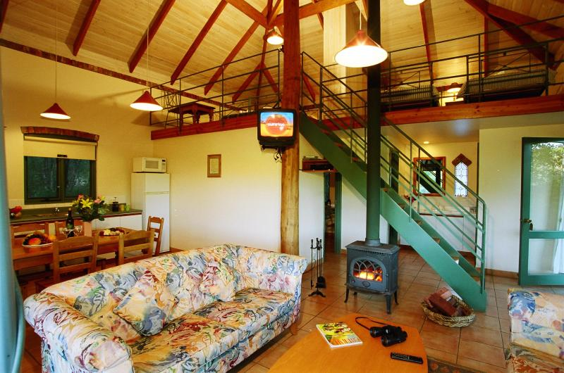 family cottage living area showing mezzanine - Waterfall Cottages - Margaret River - rentals