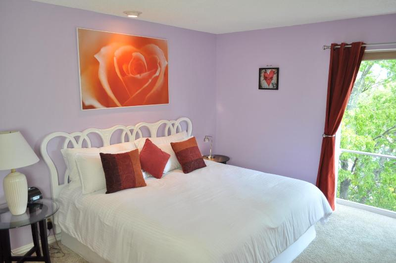 Super lush king bed look out large floor to ceiling window - Heart House 1/1 by Zilker w/ views, 2 mi to Dwntwn - Austin - rentals