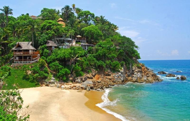 View from the beach-Paradise! - Villa Violeta Stunning Secluded Beachfront w/Chefs - San Pancho - rentals
