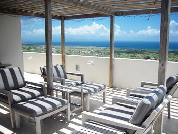 Part of the Outdoor Terrace - Hilltop Apartment - Isla de Vieques - rentals