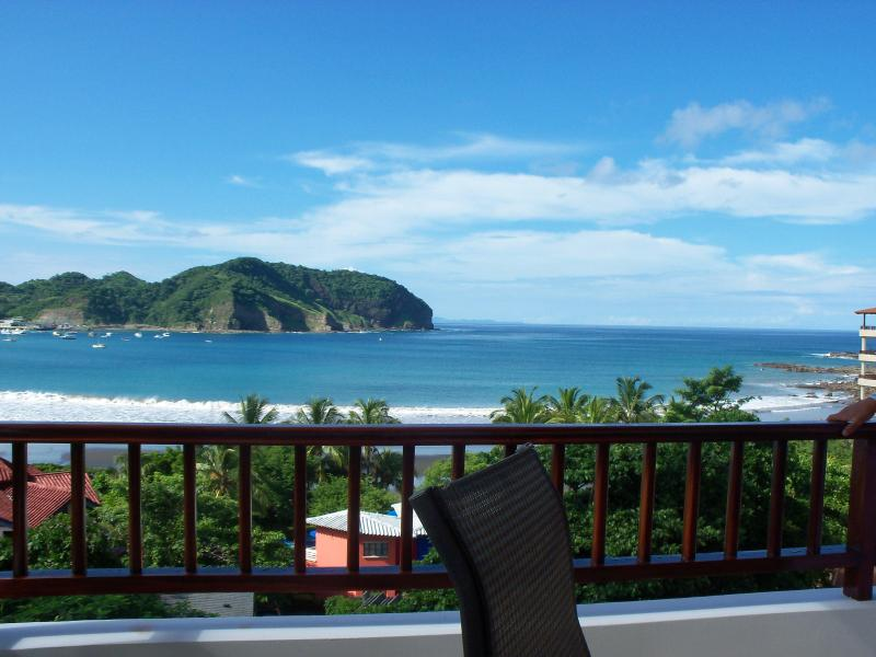 Another beautiful day - Actual view from balcony (looks better in real life) - RIGHT ON THE BEACH - Luxury Condo 5th Floor Views - San Juan del Sur - rentals