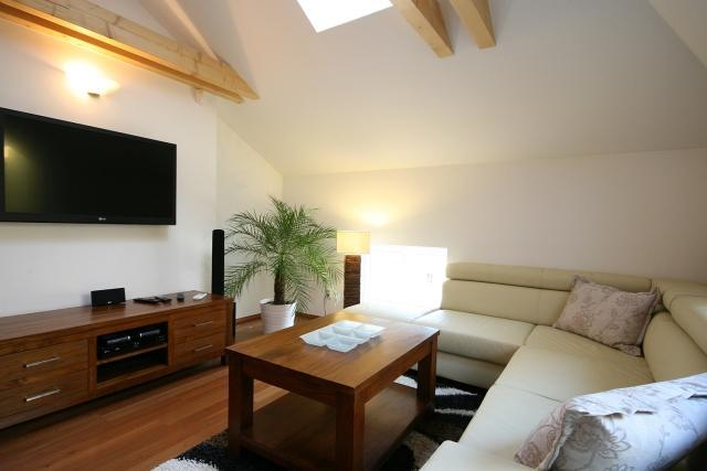 Apartment Attic Olivova, Prague - Living room - Attic Olivova - Luxury two bedroom apartment - Prague - rentals