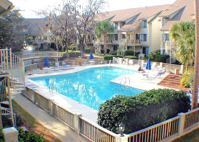 Courtside Swimming Pool #1 - Courtside 10 - Ground Floor - Short walk to the Beach - Hilton Head - rentals