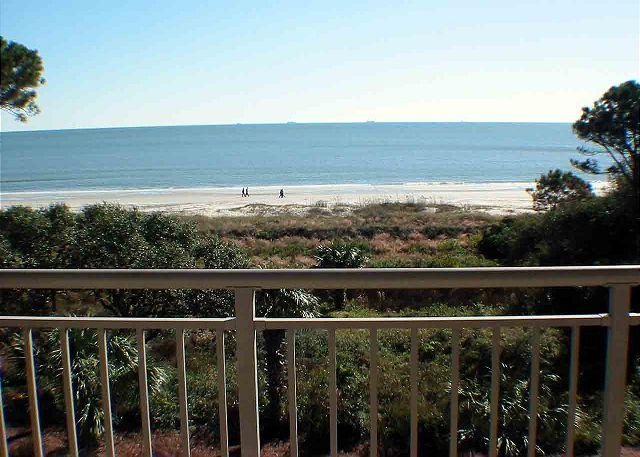 Ocean One 521 View from Balcony - Ocean One 521 - Oceanfront 5th Floor Spectacular Condo - Hilton Head - rentals