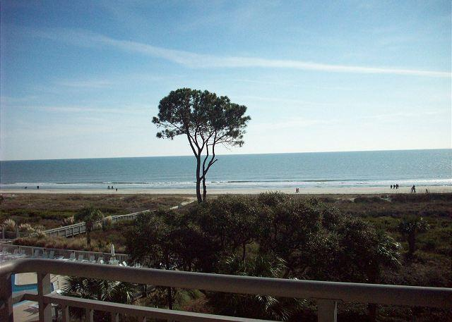 View From the Balcony - Ocean One 521 - Oceanfront 5th Floor Spectacular Condo - Hilton Head - rentals