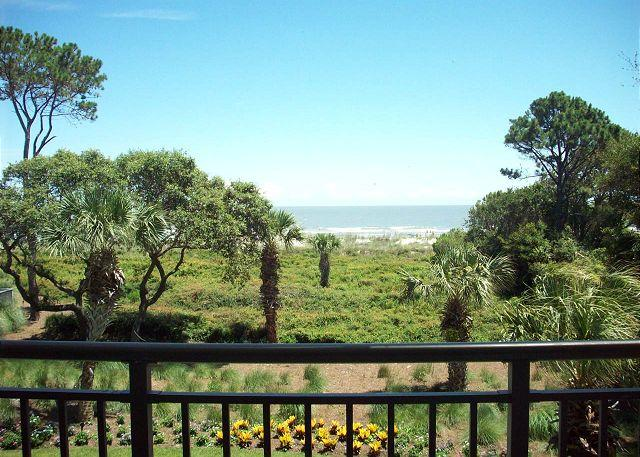 View from Balcony - Ocean One 321 - Oceanfront 3rd Floor Condo - Hilton Head - rentals