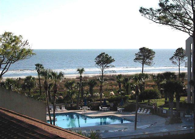 Shorewood 430 View from Balcony - Shorewood 430 - Stunning Oceanview 4th Floor Condo - Hilton Head - rentals