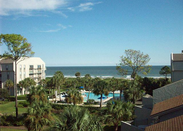View From the Balcony - Shorewood 438 - Renovated in 2016- Oceanview 4th Floor Condo - Hilton Head - rentals