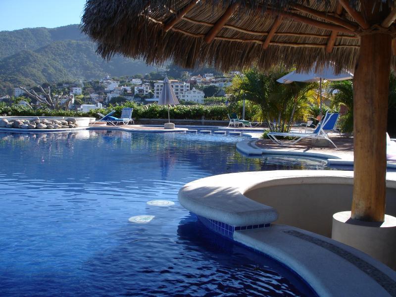 Heated ocean view infinity pool with new salt-water system - Top Flipkey Rental - Sweet Studio Suite, balcony! - Puerto Vallarta - rentals