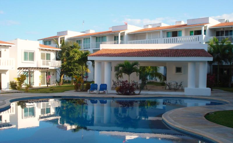 View from the main pool - Beautiful 2 Bed Condo Playa del Carmen :: Playacar - Playa del Carmen - rentals