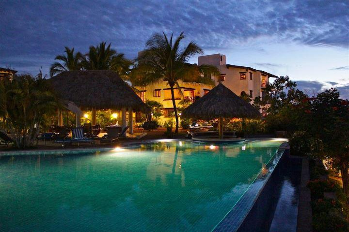 The infinity pool at night - Oceanview 2BR 2BA Penthouse at Selva Romantica - Puerto Vallarta - rentals