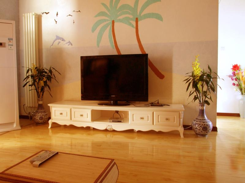 Living room with heating and cooling unit - Penthouse stunning Mt. view great location 4br - Guilin - rentals