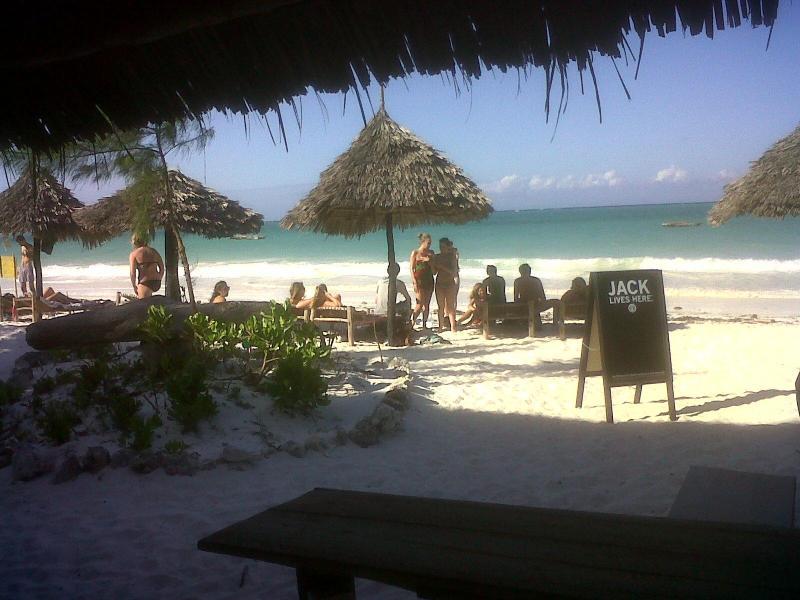 Stunning Beachfront, sunbeds, umbrellas - Crazy Mzungos, Beach Bungalows, Zanzibar - Bwejuu - rentals