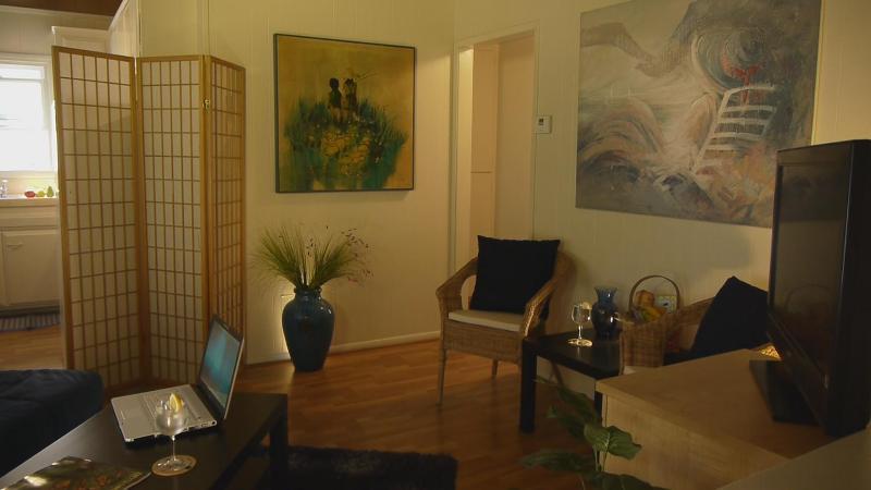 Sunny living room! - 1/2 Block to Beach & Restaurants/AC/Parking/Bikes - Newport Beach - rentals