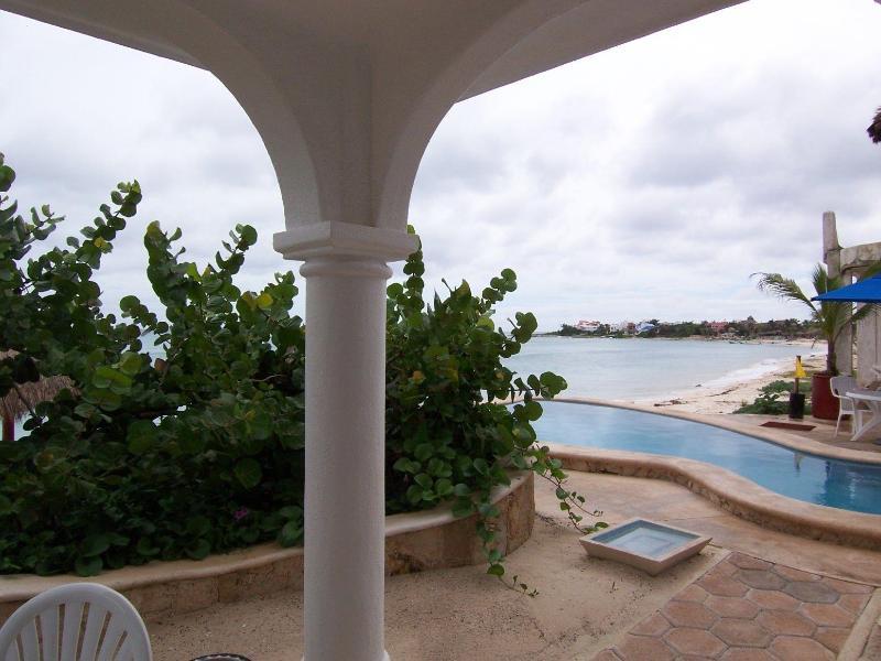 Playa Caribe #2 looking south from patio - Ocean/Pool Level, Family Friendly, Playa Caribe #2 - Akumal - rentals