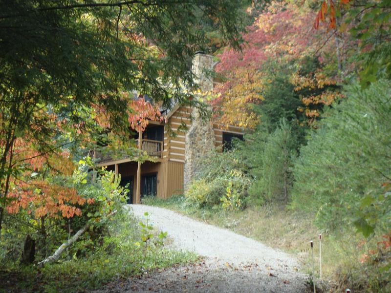 Hemlock Oct 3, Trees starting to change color! - Hemlock Log Cabins/Hemlock & Pine Grove/Hot Tubs - Logan - rentals