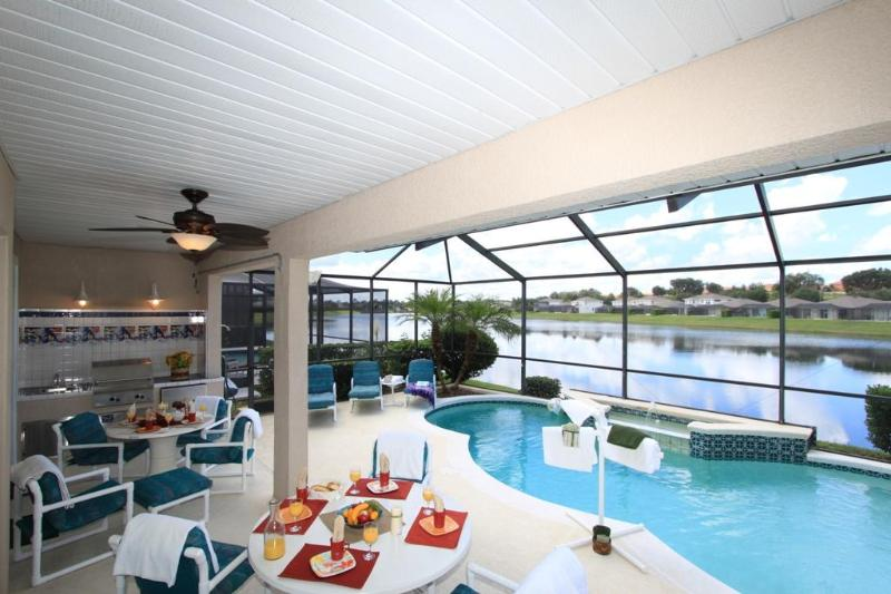 Dining Al Fresco is the perfect option in the morning. - LAKEFRONT only 4 Miles to DISNEY Flipkey Award Winner, Rated EXCELLENT! - Kissimmee - rentals