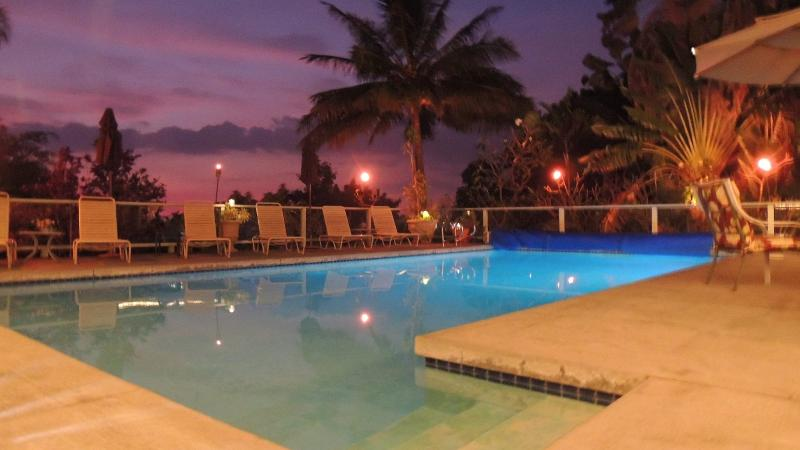 Relax after Sunset at the pool with your favorite beverage. Tiki torches provided too! - Spring Dates! Large Pool Home ~ Location ~HotTub - Kailua-Kona - rentals
