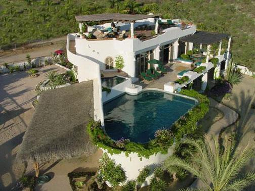 Overhead view of the property before addition of new 4th level SKY-Deck - Casa Contenta: B&B - Vacation - Cabo San Lucas - rentals