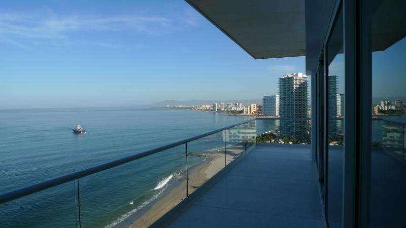 View to he north from Terrace - R&A Beach Properties Peninsula - Puerto Vallarta - rentals