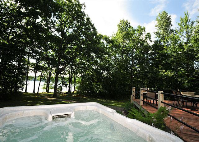 Hot Tub View - Marvelous 5 Bedroom Lakefront Home w/ Private Dock in upscale community! - Oakland - rentals