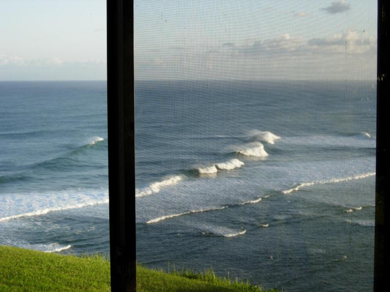 Waves from the alcove window - Sealodge D3 - Panoramic Ocean Views - End Unit - Princeville - rentals
