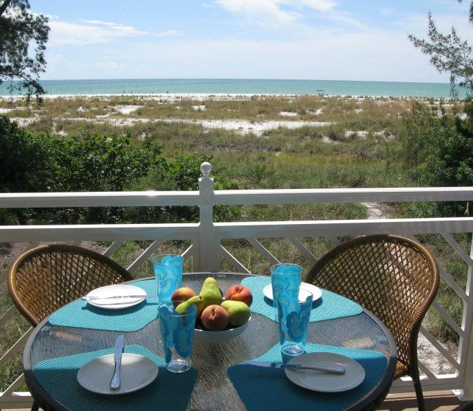 view from dinning deck - Stunning luxury newly constructed beachfront villa - Anna Maria - rentals