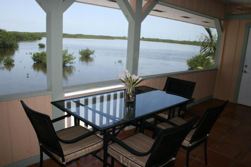 Patio - Quiet Open Water Overlooking Wildlife Sanctuary - Marathon - rentals
