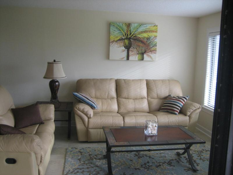 Living area from balcony - Oceanfront-- Summer Special $1450 weekly - Saint Augustine Beach - rentals