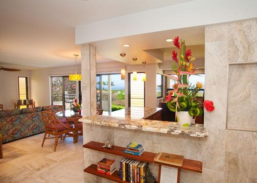 Entry as walking into the Condo. - Elegantly Remodeled Condo w/ Expansive Ocean Views - Wailea - rentals