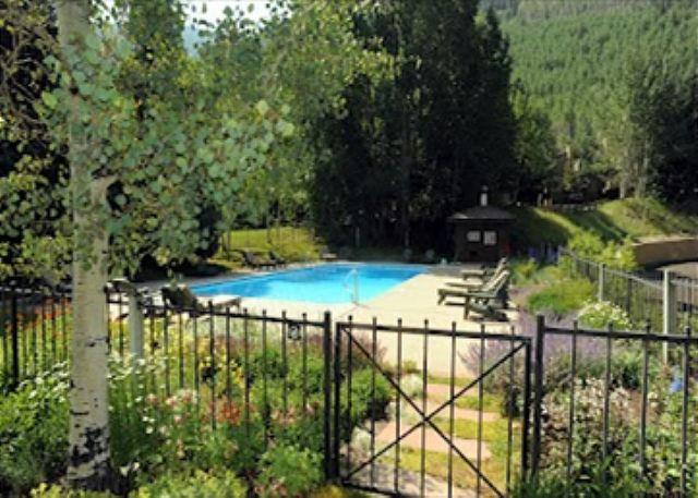 Summer Swimming Pool steps away from the unit - Golf Course Townhome #61 4 Bedrooms 4 Bathrooms Gold Unit - Vail - rentals