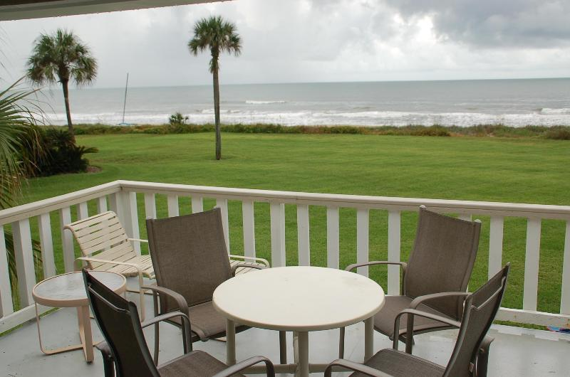 Spacious deck overlooking beautiful beach and ocean--large lawn to play or stroll - Surf Villa OCEANFRONT condo in Sawgrass Beach Club - Ponte Vedra Beach - rentals