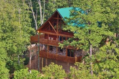 View form the air - Luxury Living at Shaconage Lodge - Sevierville - rentals