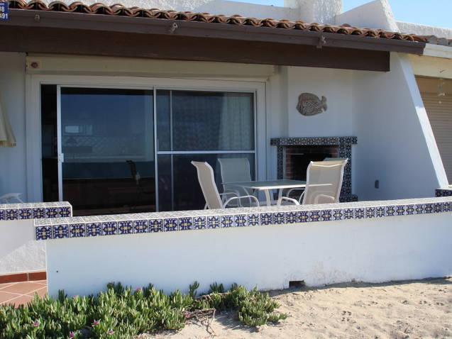Patio right on the beach - Closest beach condo to Old Port Malicon shopping area - Puerto Penasco - rentals