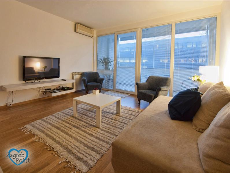 Living room - Apartment with private garage in the city centre - Zagreb - rentals