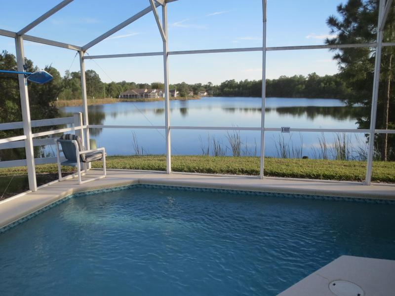 Lake view from pool patio area - Orlando Area, South Facing Lake/Pool, King Masters - Davenport - rentals