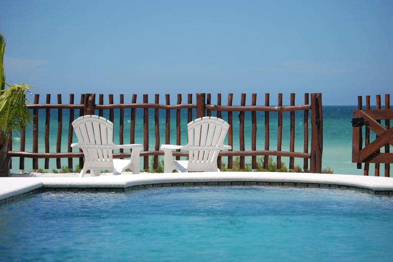 SwimingPool with Ocean - Beach Front Brand New Villa, Heated Pool & Wi-Fi - Telchac Puerto - rentals