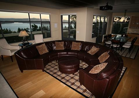 Great Room with expansive views of the sound - Headland House Panoramic Views + Beach Access - Deer Harbor - rentals