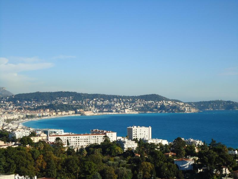 Enjoy a glass of rose with this view - awesome!! http://parisnicevacations.com - Le Trésor de Nice: Luxury Bay View Apartment - Nice - rentals