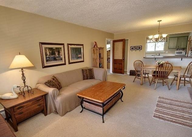 Living room from entrance - Cozy, Family-Friendly, End Unit - Winter Park - rentals