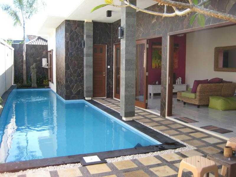 View from entry gate - Rumah Macca 3 Bedroom Villa Legian Bali - Legian - rentals