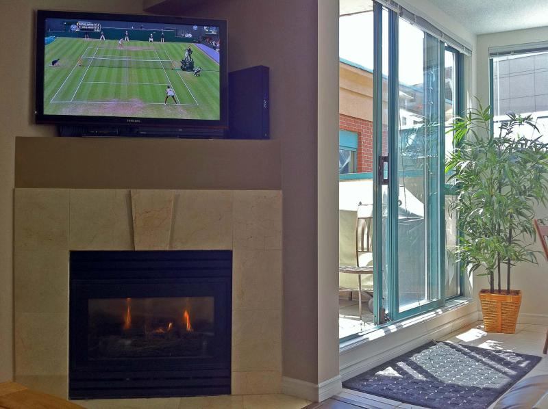 HDTV and fireplace - Yaletown 1 bedroom, Garden Patio - Vancouver - rentals
