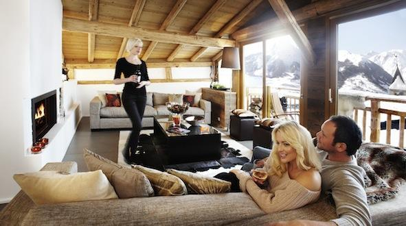 Spectacular roof top living room - Abode - Luxury Chalet, Magical Views &  Fab Food - Saint-Martin-de-Belleville - rentals