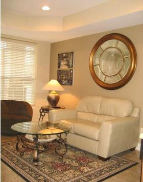 LIVING ROOM - PERFECT JACUZZI  CONDO 1BD- NO STAIRS 417-331-0544 - Branson - rentals
