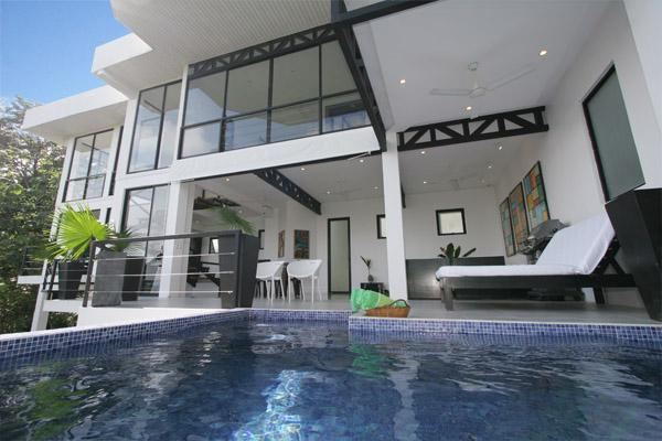 Pool's eye view - Casa Capuchin , 4 bedroom Ocean View Home - Manuel Antonio National Park - rentals