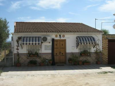 Front of Bungalow & Parking - Bungalow in  Andalucia, Seville, Cordoba, Spain - Puente Genil - rentals