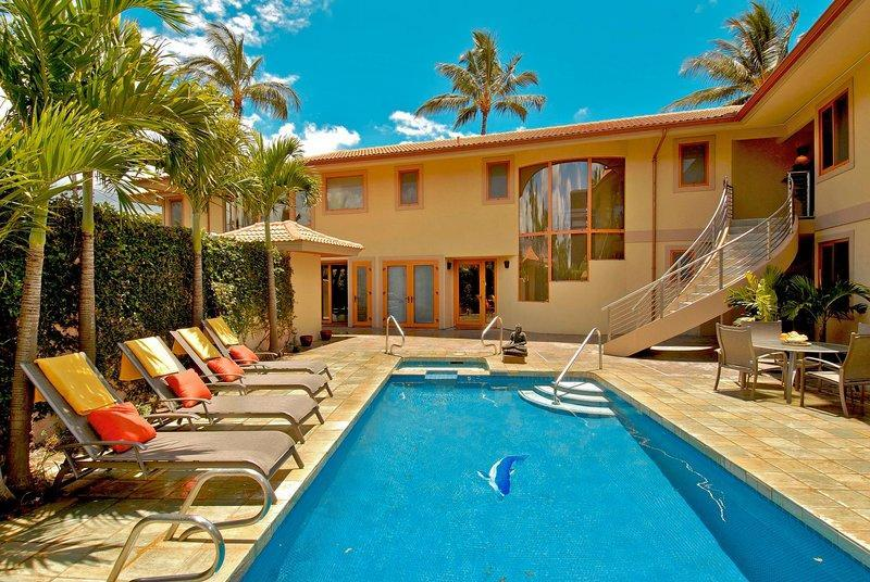 Swimming Pool during day - LUXURY VILLAS STEPS FROM THE OCEAN - Kihei - rentals